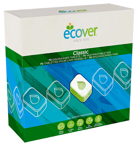 Dishwasher Tablets, Classic, Ecover (25 tablets)