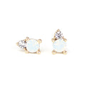 Dolce Stud Earrings - White Opal