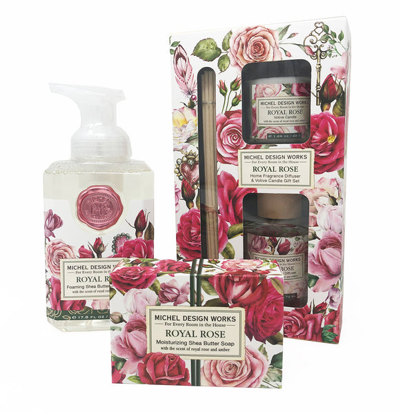 Royal Rose Luxury Soap and Candle Gift Set