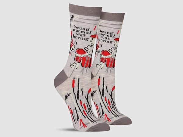 BEING NORMAL WAS BORING - Women's Crew Socks