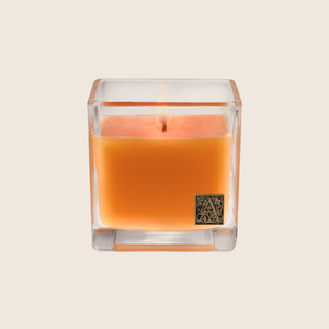The Valencia Orange Cube Candle transforms a room with the fragrance of sweet oranges mixed with notes of apples and red berries with a hint of citrus peel. Our candles are all hand-poured in Arkansas. Made with a proprietary wax blend, ethically sourced containers and cotton wicks. Light one of these aromatic candles and transport yourself to a memory or emotion.
