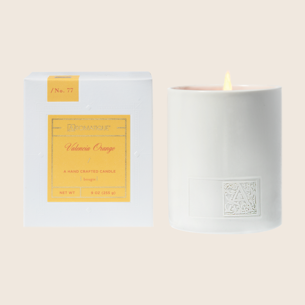 Valencia Orange - Boxed Ceramic Candle