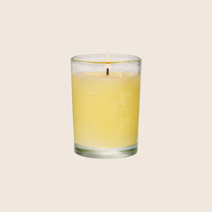 Orange & Evergreen - Glass Votive Candle