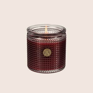 French Mulberry Textured Glass Candle