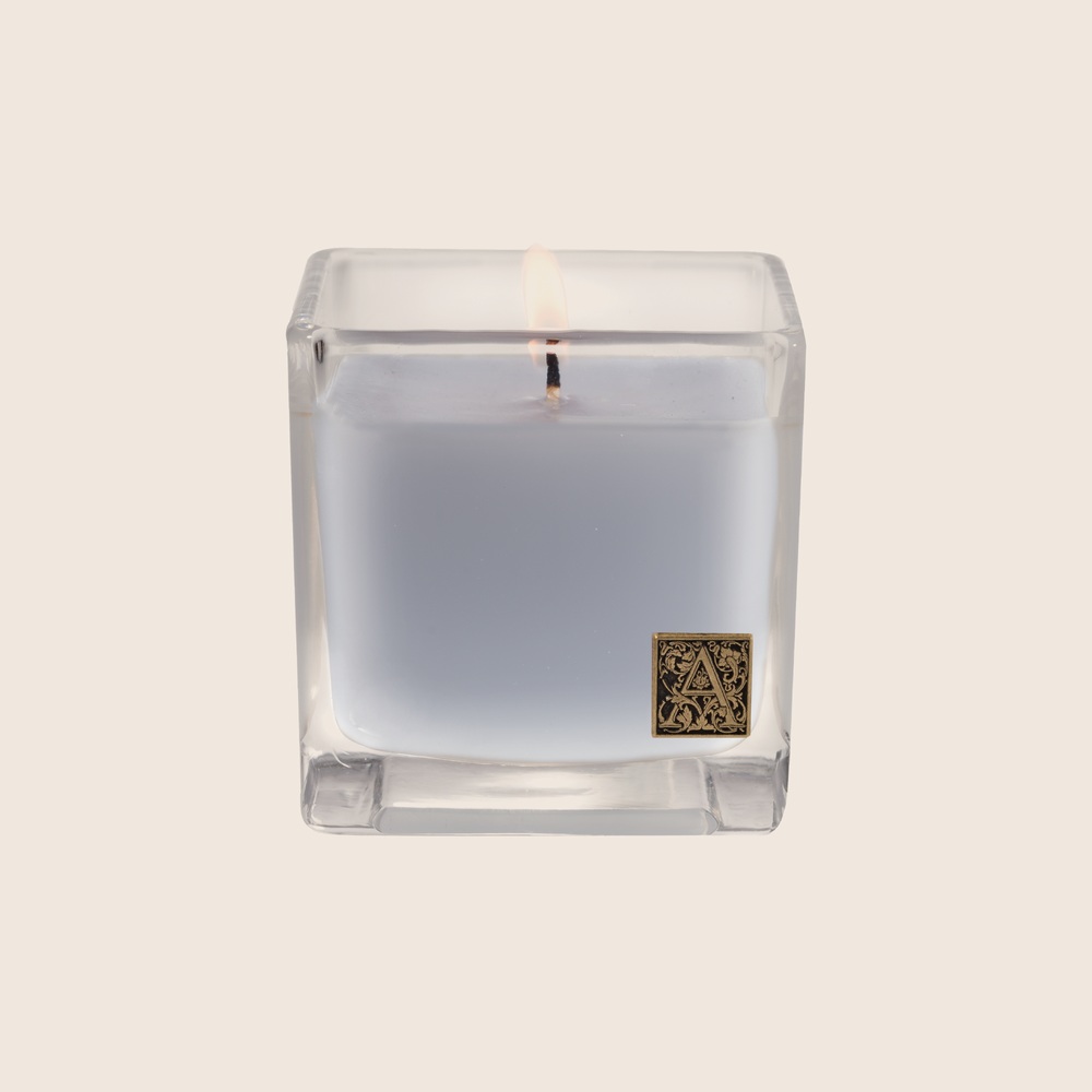 Viola Driftwood - Cube Glass Candle