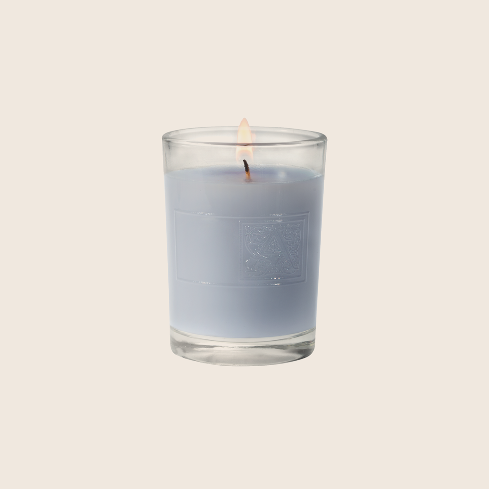 Viola Driftwood - Votive Glass Candle