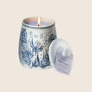 The Viola Driftwood Large Limited Edition Candle conjures an oceanside scene with a calm, watery fragrance of violet leaves paired with cedar, vetiver, and infused citrus. Our candles are all hand-poured in Arkansas. Made with a proprietary wax blend, ethically sourced containers and cotton wicks. Light one of these aromatic candles and transport yourself to a memory or emotion.