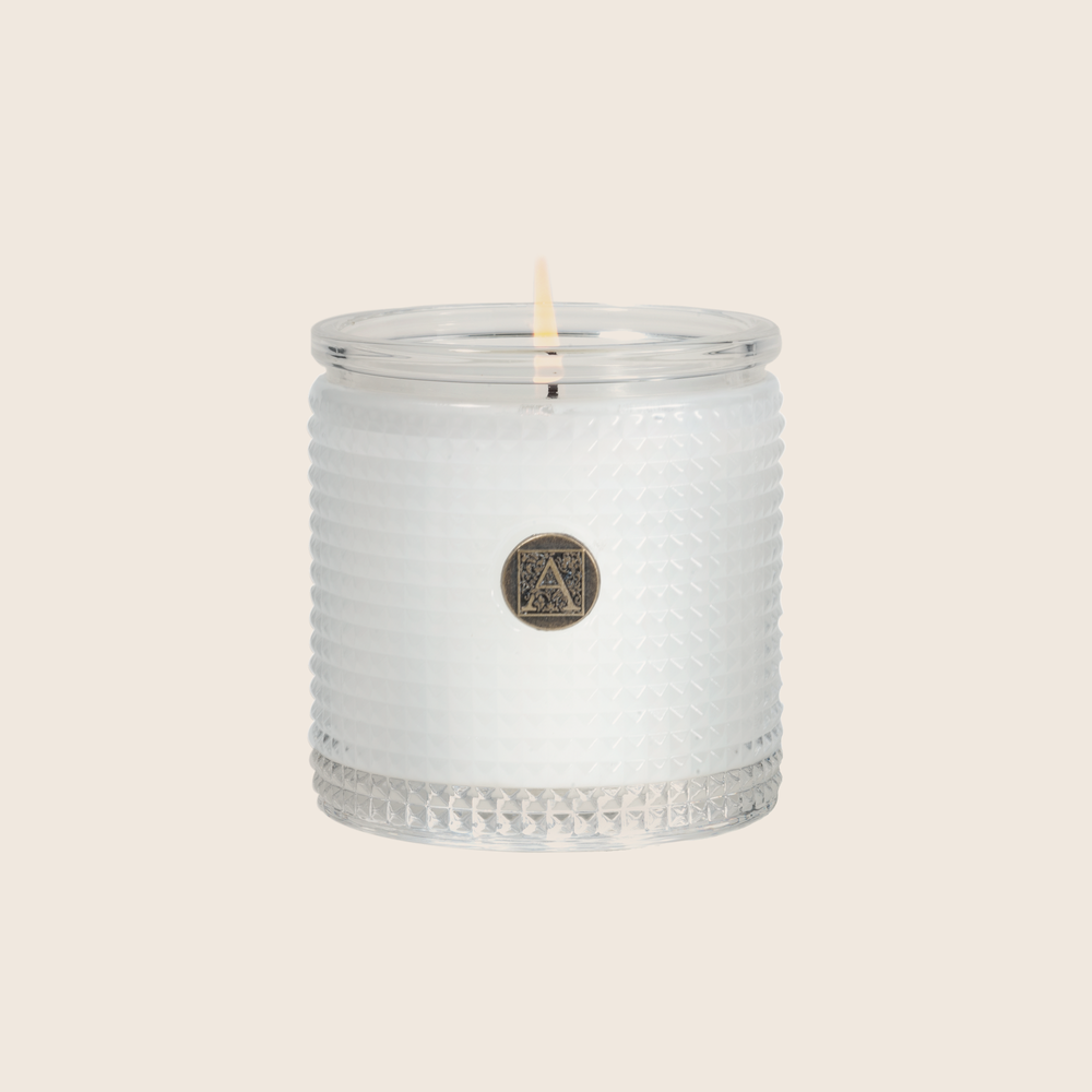 Bourbon & Bergamot - Textured Glass Candle