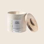 White Amaryllis & Rosemary - Speckled Ceramic Candle