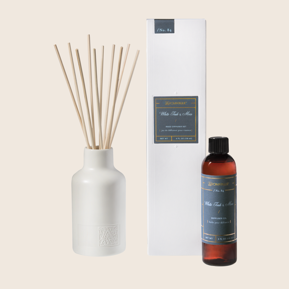 Load image into Gallery viewer, White Teak & Moss - Reed Diffuser Set