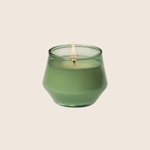Palo Santo & Cedar fills your space with the essence of burning palo santo combined with notes of cedarwood, amber and a light layer of coconut. Using coconut blend wax and cotton core wicks encompasses the natural elements that the Urban Gardener values. The forest tinted glass candle is a unique, yet neutral vessel and allows this candle to be used anywhere. Palo Santo & Cedar is the perfect everyday staple to bring outdoor inspirations inside.