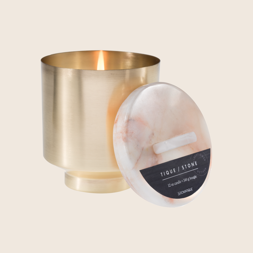 Elderflower & Vetiver - 12oz Brass Candle