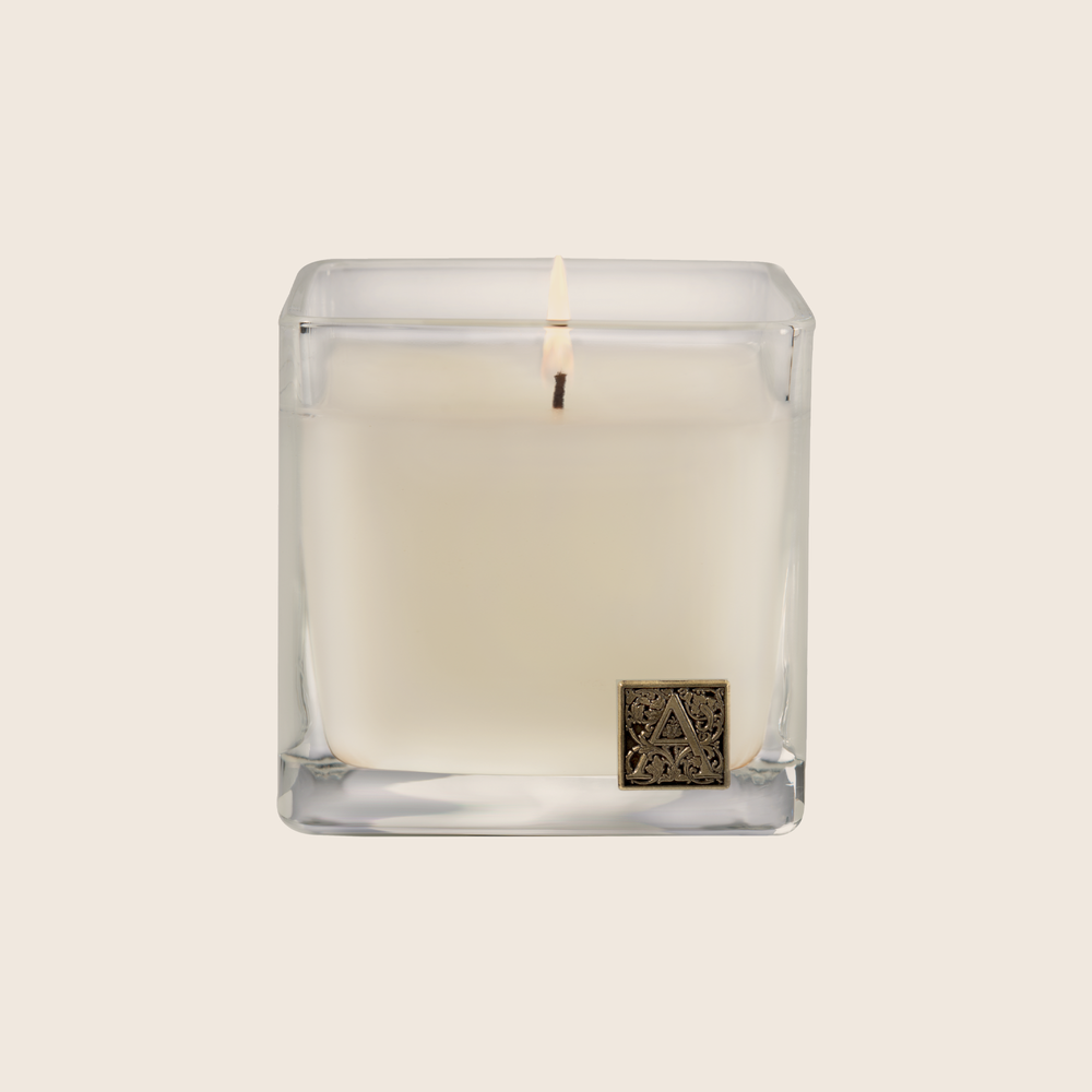 Load image into Gallery viewer, Gingerbread Brûlée - Cube Glass Candle