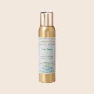 Refresh your space with the Cotton Ginseng Aerosol Room Spray. A light spray of this fine mist will fill your room with the relaxing fragrance of freshly picked cotton blended with jasmine, eucalyptus, and lavender florals.