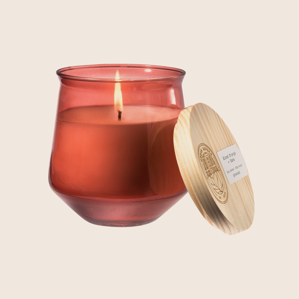 Blood Orange & Sake - Tinted Glass Candle