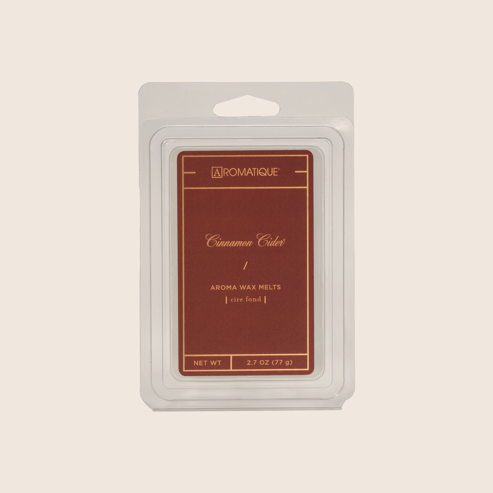 Cinnamon Cider® is an exquisite blend of cinnamon and spices mixed with apples and a touch of citrus. Cinnamon Cider® Aroma Wax Melts contain a set of 8 cubes made from 100% food-grade paraffin wax and a highly fragrant aroma - no wicks or flames needed.
