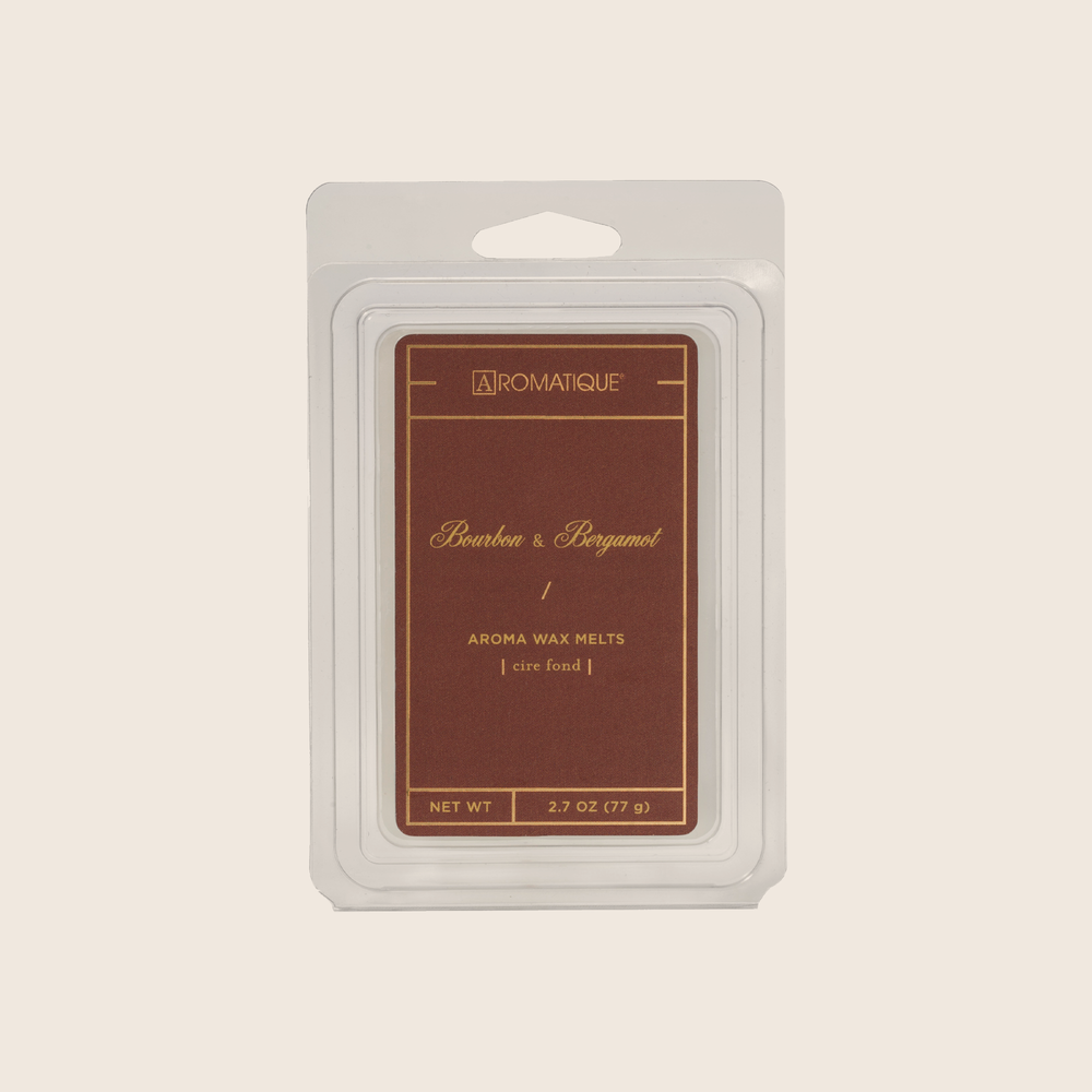 Bourbon & Bergamot will make your home feel cozy with bold citrus fragrance softened by cashmere musk and hints of bourbon. Bourbon & Bergamot Aroma Wax Melts contain a set of 8 cubes made from 100% food-grade paraffin wax and a highly fragrant aroma - no wicks or flames needed.