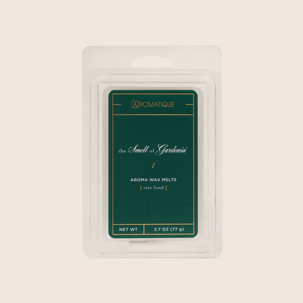 The Smell of Gardenia® fills any space with the intoxicating fragrance of gardenia blooms paired with hyacinth, white jasmine, and rose topped with peach nectar and warm balsam. Aromatique Wax Melts are a set of 8 cubes that contain 100% food-grade paraffin wax and a highly fragrant aroma - no wicks or flames needed.