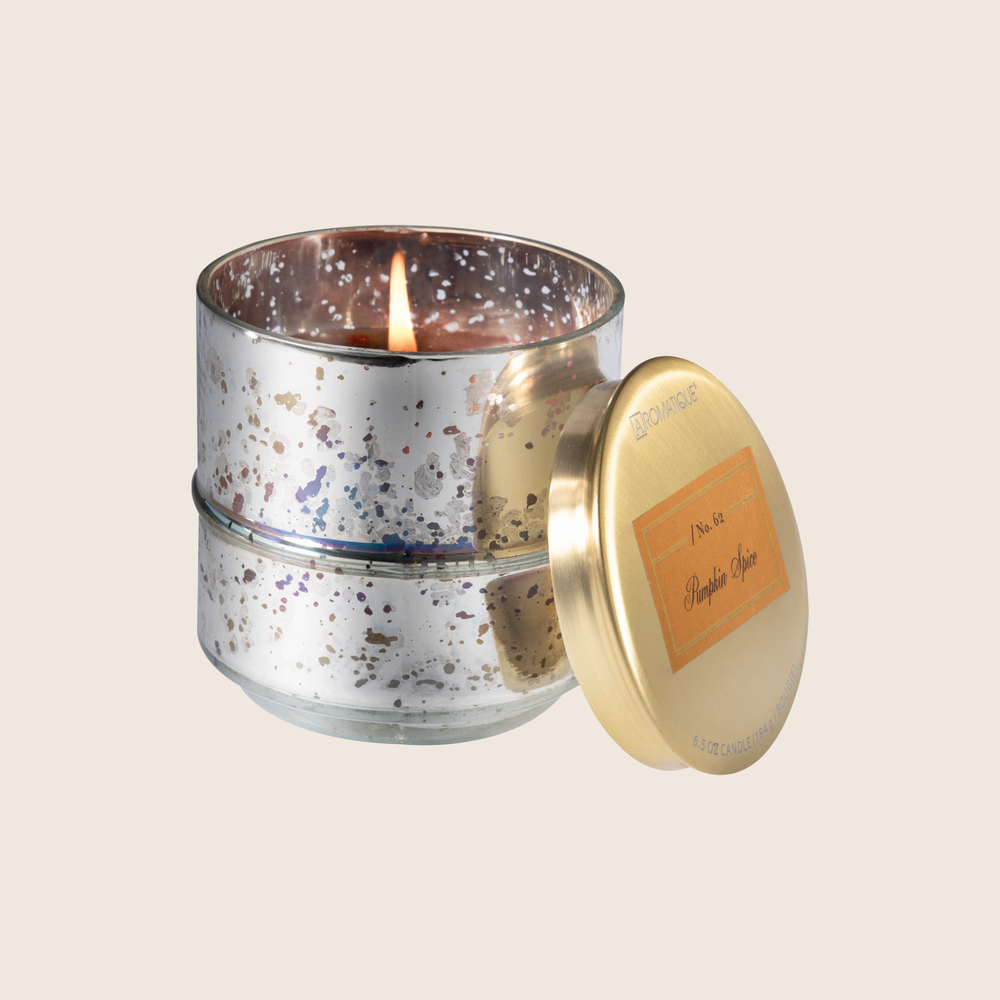 Load image into Gallery viewer, Pumpkin Spice - SM Glass Metallic Candle