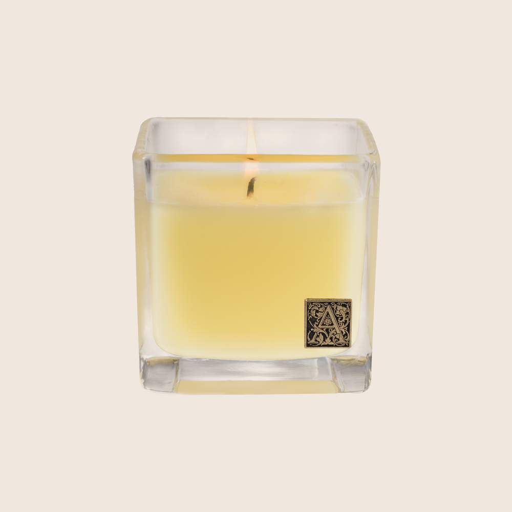 The Sorbet Cube Candle is fragranced with elements of lemon and lime entwined with peach, melon, and rose. Our candles are all hand-poured in Arkansas. Made with a proprietary wax blend, ethically sourced containers and cotton wicks. Light one of these aromatic candles and transport yourself to a memory or emotion.