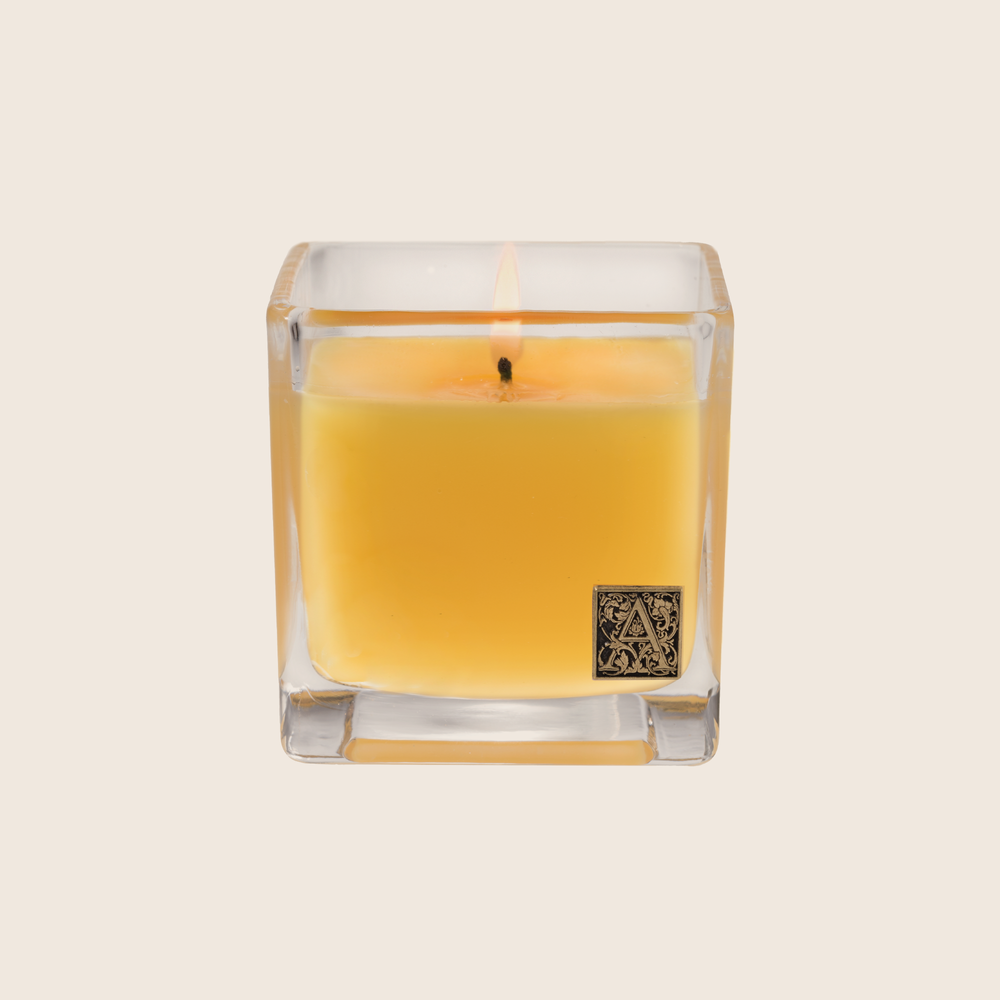 The Agave Pineapple Cube Candle has a lush, fruity floral blend of pineapples and rosewood paired with sweet agave and jasmine fragrance. Our candles are all hand-poured in Arkansas. Made with a proprietary wax blend, ethically sourced containers and cotton wicks. Light one of these aromatic candles and transport yourself to a memory or emotion.