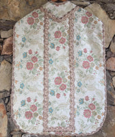 Floral Chasuble with Lace Braid Trims - Sacra Domus Aurea