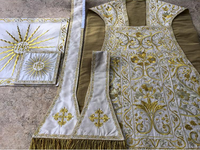 Italianate Floral Silk Embroidered Set - Sacra Domus Aurea
