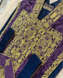 Purple Silk Embroidered St. Philip Set - Sacra Domus Aurea
