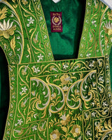 Italianate Green  Silk Embroidered Set - Sacra Domus Aurea