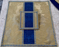 Gold and Blue Silk Semi-Gothic Set - Sacra Domus Aurea