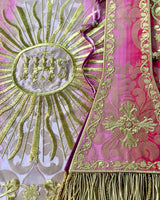Italianate Rose Silk Embroidered Set - Sacra Domus Aurea