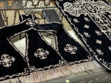 Embroidered Velvet 19th Century French Set - Sacra Domus Aurea