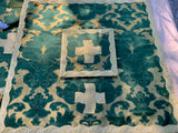 Green and Gold Damask Silk Neri Era Chasuble - Sacra Domus Aurea