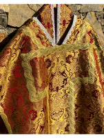 Gold and Burgundy Neri Era Chasuble - Sacra Domus Aurea