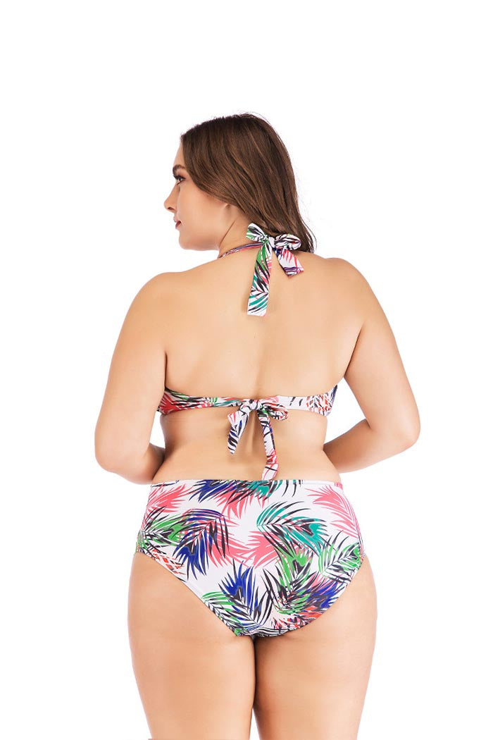 SEASIDE GALE LEAF HIGH WAIST BIKINI