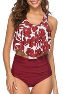 LOTUS LEAF HIGH WAIST TANKINI SET