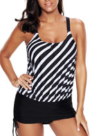 PLUS SIZE TIE SIDE TANKINI SET