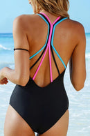 COLORFUL STRING ONE PIECE SWIMWEAR