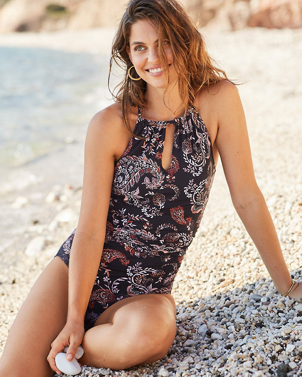 SIGNATURE HIGH-NECK ONE-PIECE SWIMSUIT