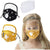 Kids Cotton Mouth Cover with Breathing Valve and Detachable Eye Shield