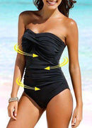 Plus Size Ruched One Piece Swimwear - fashionyanclothes