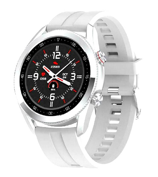 Luxury Smart Watch IP68 Android IOS Heart Rate Blood Oxygen Fitness Watch - 2021/White