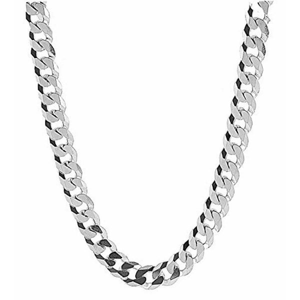 NEW! Dubai Collections 14MM Curb Link White Gold Cuban Miami Link Chain Necklace