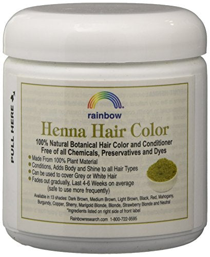 Rainbow Research Henna Hair Color and Conditioner Dark Brown (Sable) 4 oz