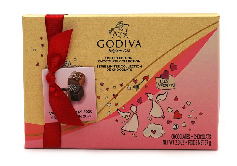 GODIVA Limited Edition Chocolate Collection Box 6 Piece 2.3 oz
