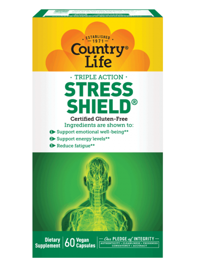 Country Life Stress Shield 60 Veg Capsules
