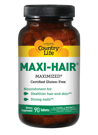 Country Life Maxi-Hair Paba Free 90 Tablets
