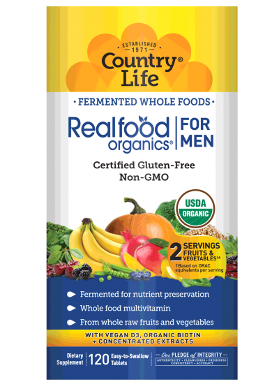 Country Life Realfood Organics® For Men 120 Tablets