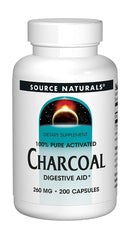 Source Naturals Charcoal 260 mg 200 Capsules