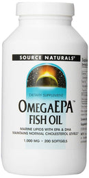Source Naturals OmegaEPA Fish Oil 1,000 mg 200 Softgels